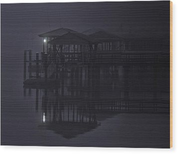 Wood Print featuring the photograph Mysterious Morning by Laura Ragland