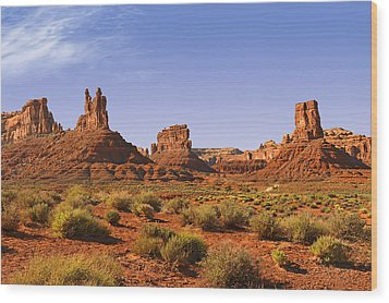 Mysterious Valley Of The Gods Wood Print by Christine Till