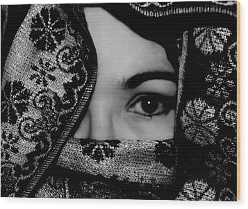 Mysterious Woman Wood Print