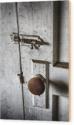 Mystery Door Wood Print by Caitlyn  Grasso