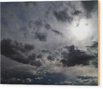 Mystery Of The Sky Wood Print by Glenn McCarthy Art and Photography