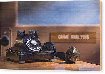 Mystery Phone Call Wood Print