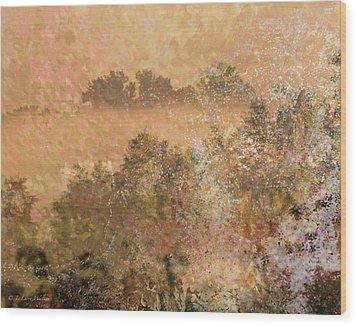 Mystery Swamp Sunrise Wood Print by J Larry Walker