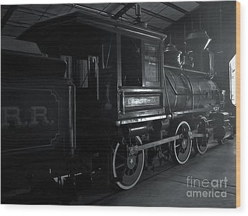 Mystery Train Wood Print by Gregory Dyer