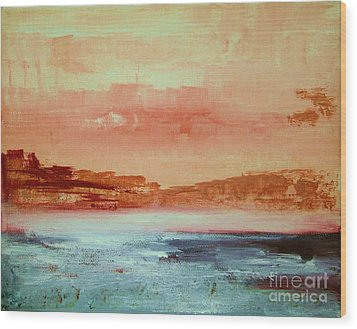 Wood Print featuring the painting Mystery Waters by Julie Lueders
