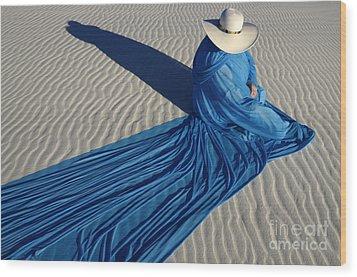Mystic Blue 1 Wood Print by Bob Christopher