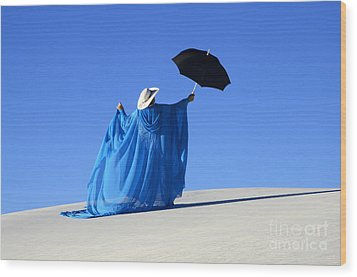 Mystic Blue 2 Wood Print by Bob Christopher