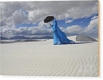 Mystic Blue 8 Wood Print by Bob Christopher