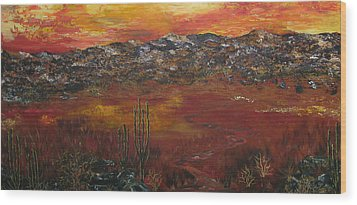 Mystic Desert Wood Print by Linda Eversole