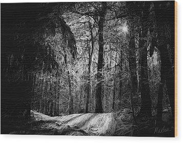 Mystic Forest Wood Print by Marina Likholat