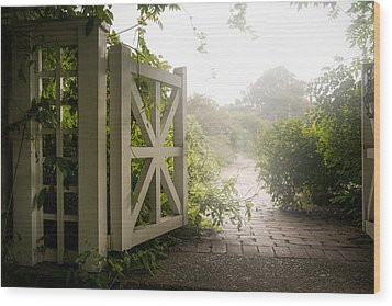 Mystic Garden - A Wonderful And Magical Place Wood Print