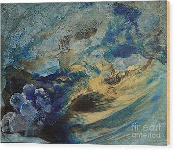 Mystic Lake Wood Print by Valia US