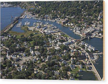 Mystic, Maine Wood Print by Dave Cleaveland