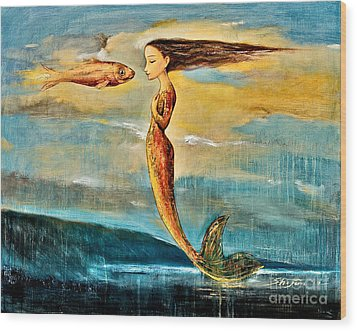 Mystic Mermaid IIi Wood Print by Shijun Munns