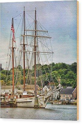 Mystic Seaport  Wood Print