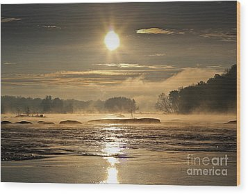 Wood Print featuring the photograph Mystic Shores by Everett Houser