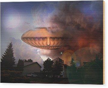 Mystic Ufo Wood Print
