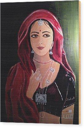 Mystic Woman Wood Print