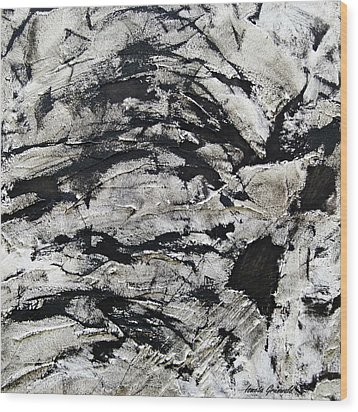 Wood Print featuring the painting Mystical - Abstract Art by Ismeta Gruenwald