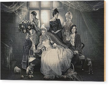 Mystical Family Wood Print by Cindy Grundsten