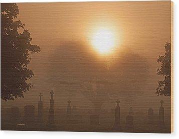 Mystical Fog Wood Print