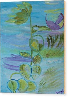 Mystical Moods Wood Print by Meryl Goudey