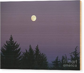 Mystical Moon Wood Print by Jacquelyn Roberts