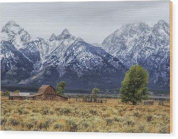 Mystical Mountain Living Wood Print