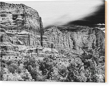 Mystical Rocks Wood Print by John Rizzuto