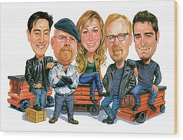 Mythbusters Wood Print by Art