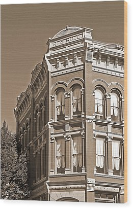 N. D. Hill Building. Port Townsend Historic District  Wood Print