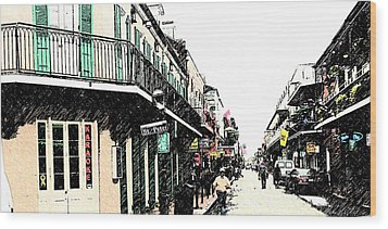 N O French Quarter Wood Print