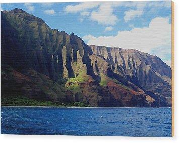 Na Pali Coast On Kauai Wood Print