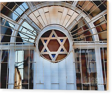 Nachlaot Synagogue Wood Print by Elena Comens