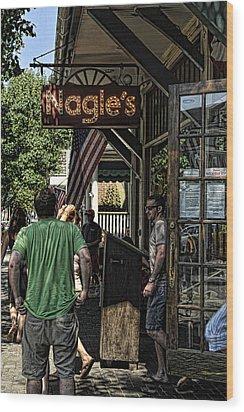 Nagle's Apothecary Cafe Wood Print