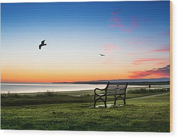 Nairn Beach At Dawn Wood Print