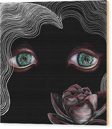 Wood Print featuring the digital art Namaste by Yolanda Raker