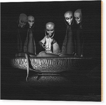 Nameless Faces Wood Print by Bob Orsillo
