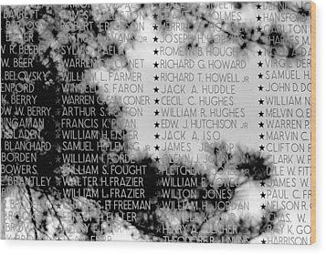 Names On The Wall Wood Print
