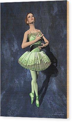 Nanashi - Ballerina Portrait Wood Print by Andre Price