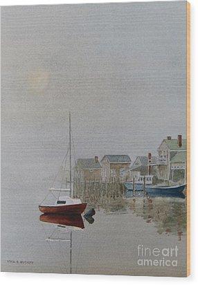 Nantucket Fog Wood Print by Karol Wyckoff