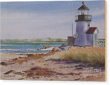 Nantucket Winter Light Wood Print by Karol Wyckoff