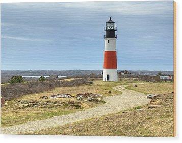 Nantucket's Sankaty Head Light Wood Print