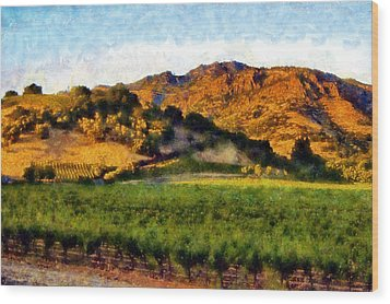 Napa Valley Wood Print by Kaylee Mason