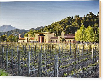 Napa Valley Spring Sunset Wood Print by George Oze