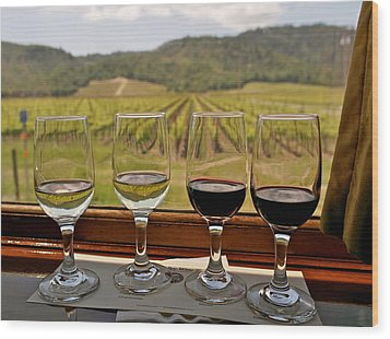 Napa Valley Wine Train Delights Wood Print