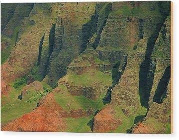 Napail Coast Cliffs Wood Print by Stephen  Vecchiotti