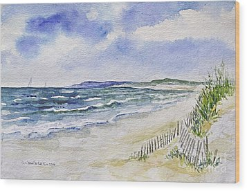 Napatree Beach Wood Print
