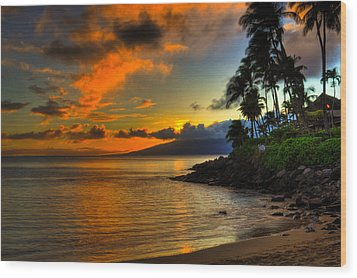 Napili Sunset Wood Print