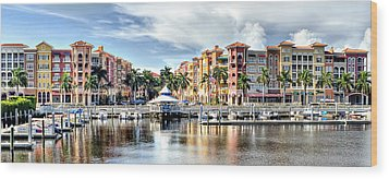 Naples Bayfront Wood Print